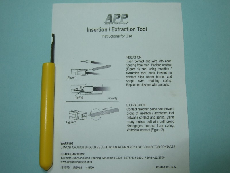 Anderson Powerpole Insertion-Extraction Tool